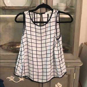 Geometric pattern blouse